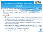 almp response to low education training