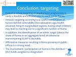 conclusion targeting