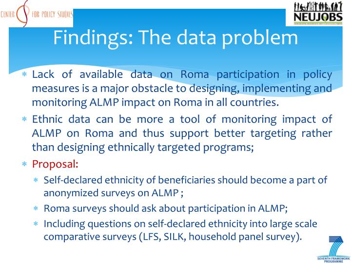 Findings: The data problem
