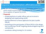 response to discrimination affirmative action