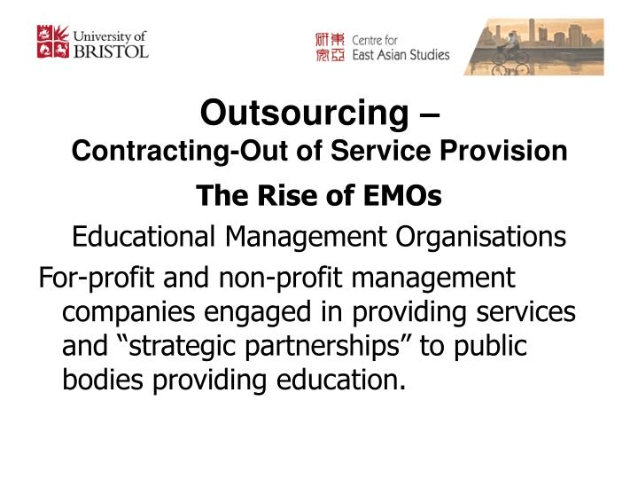 Outsourcing –
