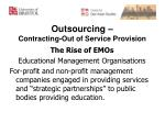 outsourcing contracting out of service provision1