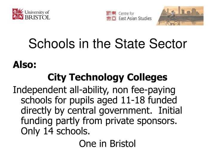 Schools in the State Sector