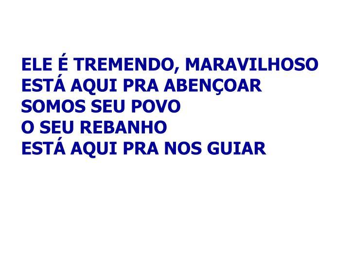 ELE É TREMENDO, MARAVILHOSO
