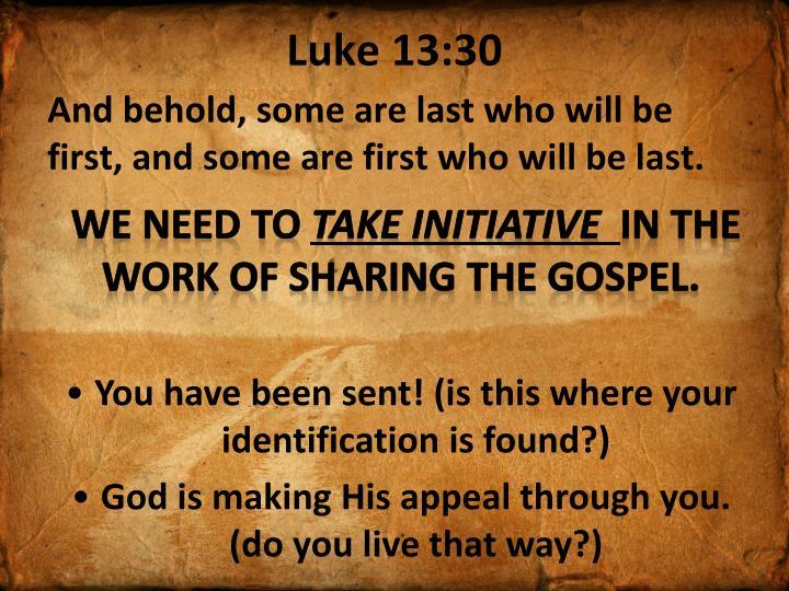 Luke 13:30
