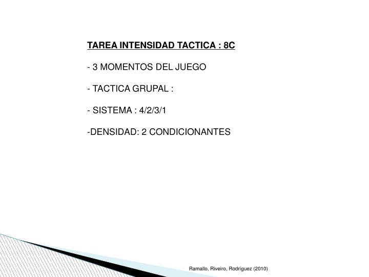 TAREA INTENSIDAD TACTICA : 8C