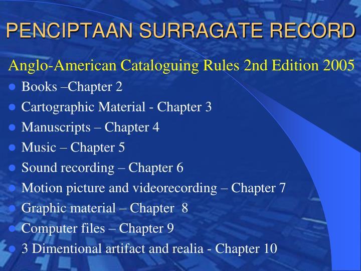PENCIPTAAN SURRAGATE RECORD