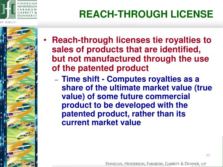 REACH-THROUGH LICENSE