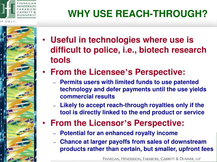 WHY USE REACH-THROUGH?