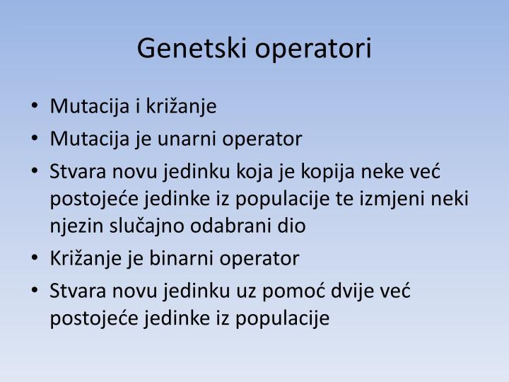 Genetski operatori