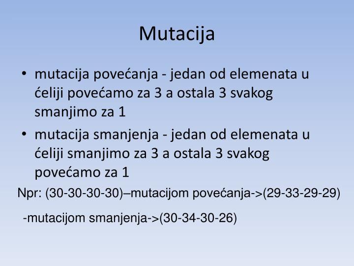 Mutacija