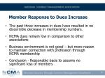 member response to dues increase