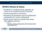 ncma s mission values