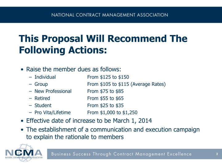 This proposal will recommend the following actions