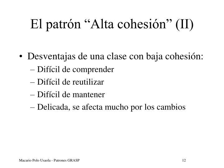 """El patrón """"Alta cohesión"""" (II)"""