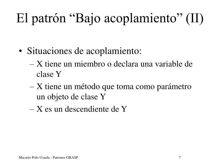 """El patrón """"Bajo acoplamiento"""" (II)"""
