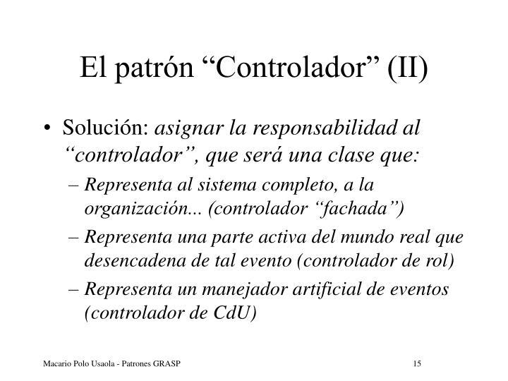 """El patrón """"Controlador"""" (II)"""
