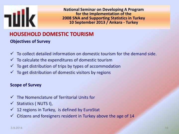 HOUSEHOLD DOMESTIC TOURISM