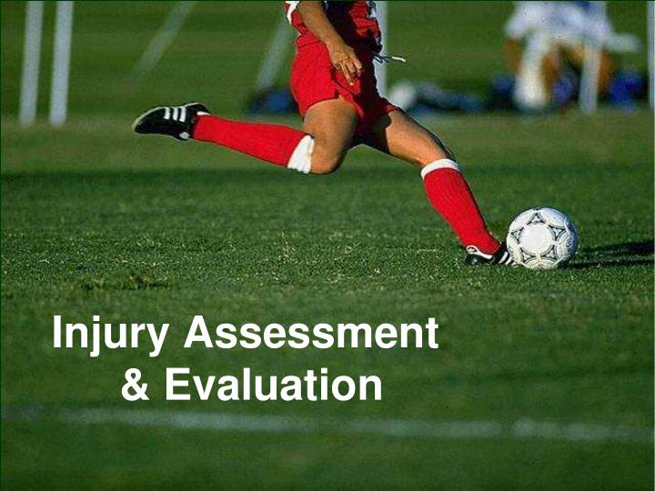Injury assessment evaluation