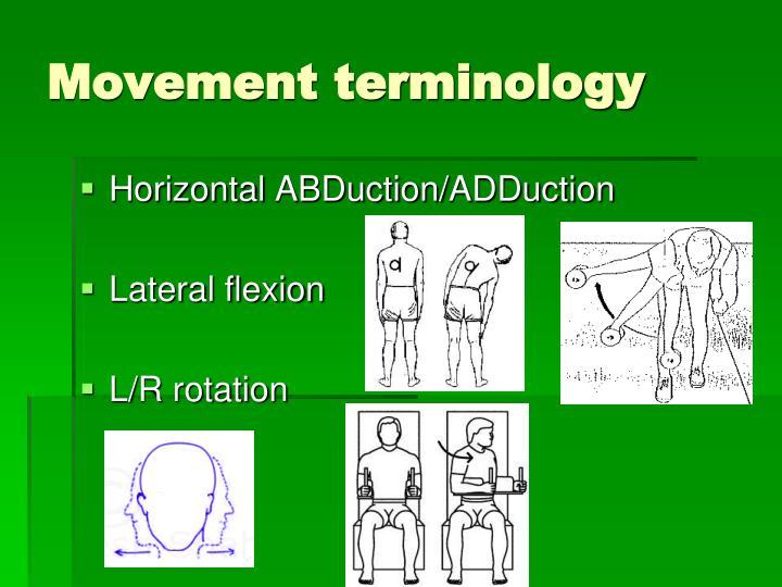 Movement terminology