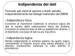 indipendenza dei dati