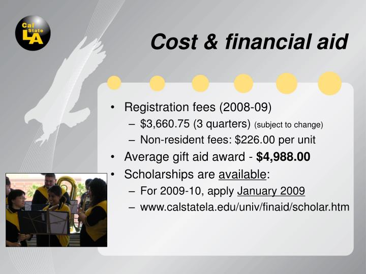 Cost & financial aid