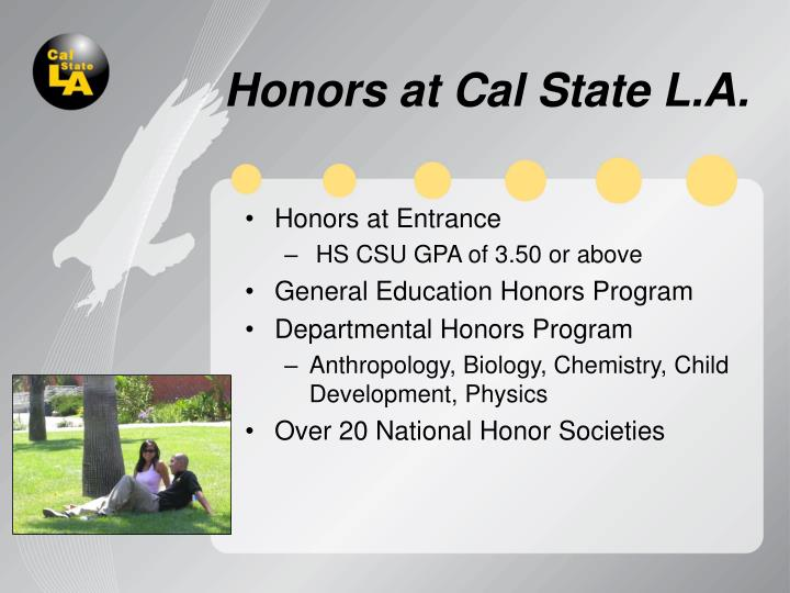 Honors at Cal State L.A.