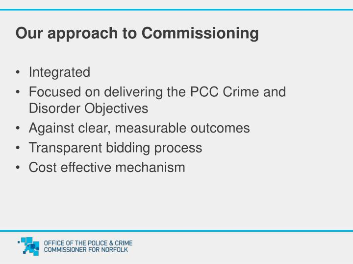 Our approach to Commissioning