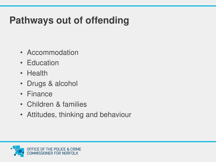 Pathways out of offending