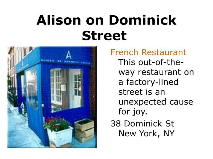 Alison on Dominick Street