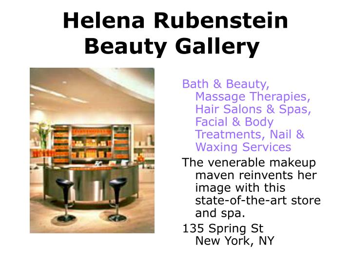 Helena Rubenstein Beauty Gallery