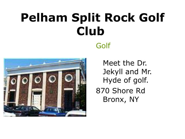 Pelham Split Rock Golf Club