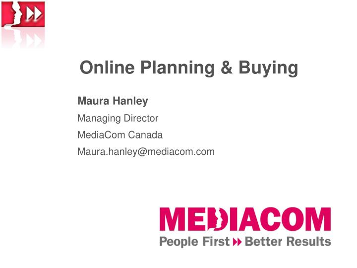 Online planning buying