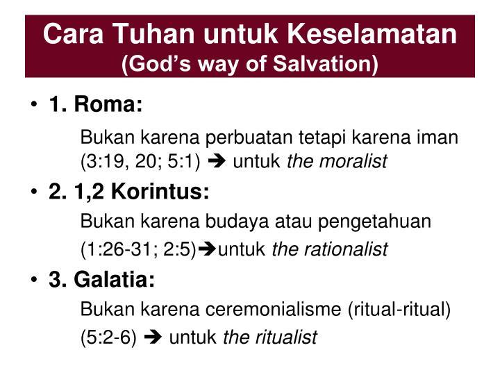 Cara Tuhan untuk Keselamatan