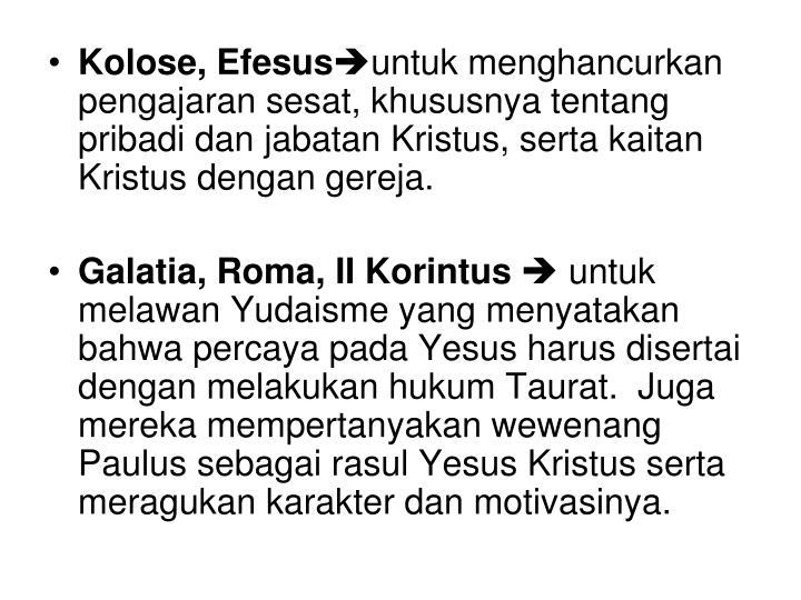 Kolose, Efesus