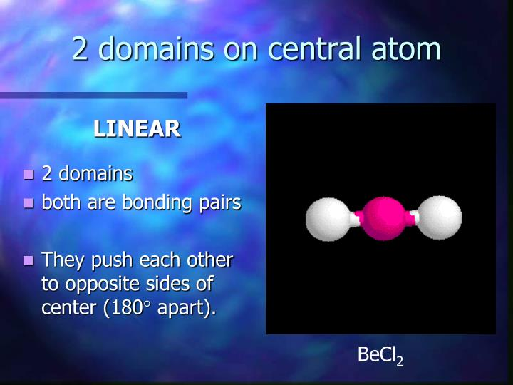 2 domains on central atom