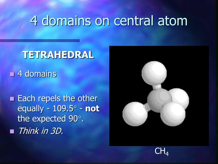 4 domains on central atom