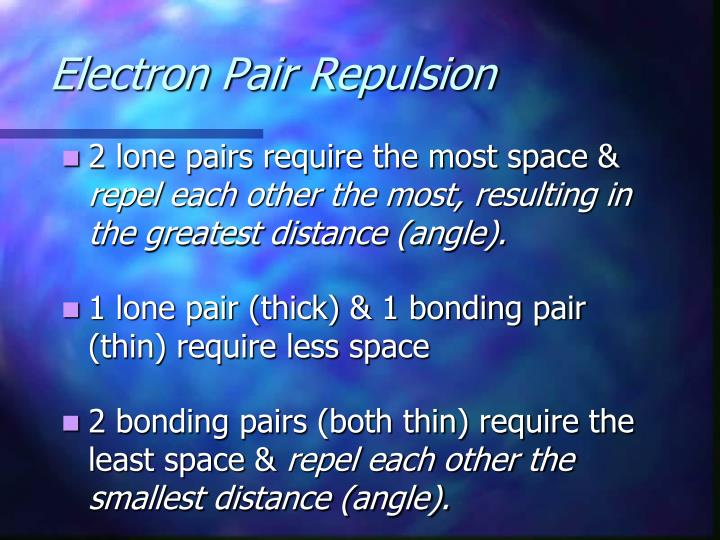 Electron Pair Repulsion