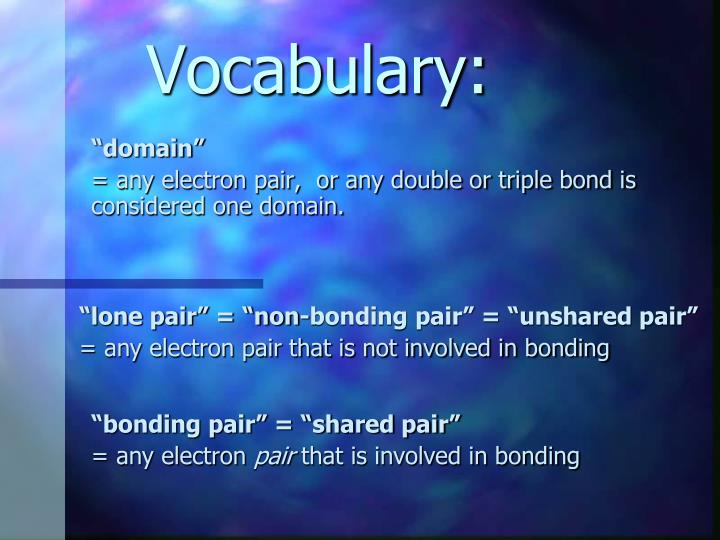Vocabulary: