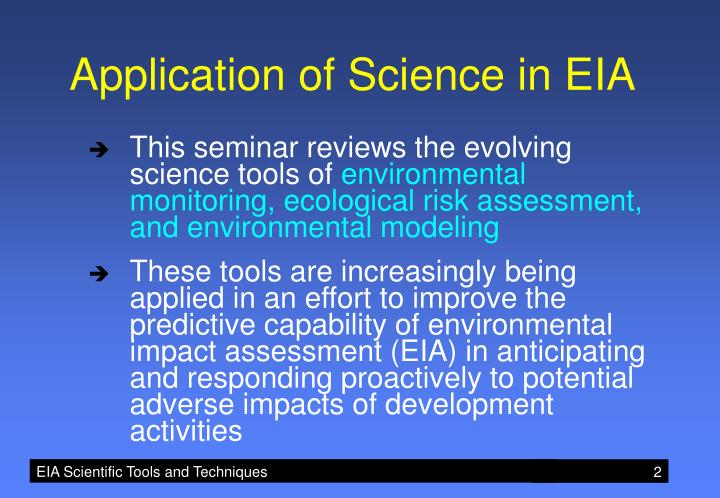 Application of Science in EIA
