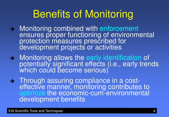 Benefits of Monitoring