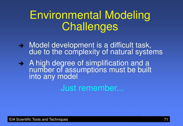Environmental Modeling Challenges