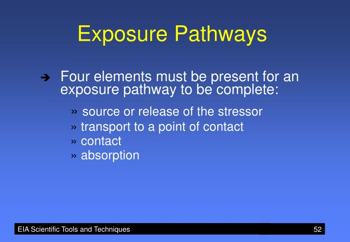 Exposure Pathways
