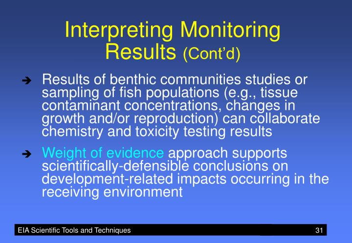 Interpreting Monitoring