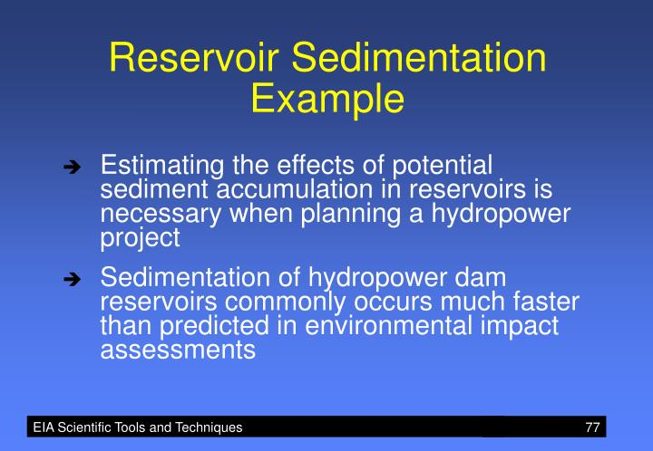 Reservoir Sedimentation Example