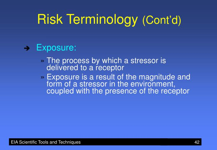 Risk Terminology
