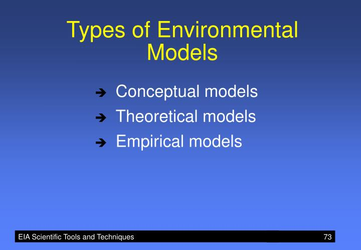 Types of Environmental Models