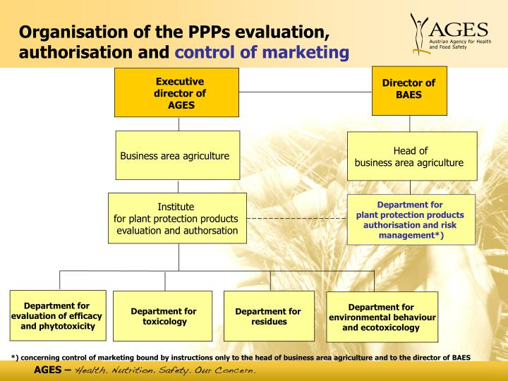 Organisation of the PPPs evaluation, authorisation and