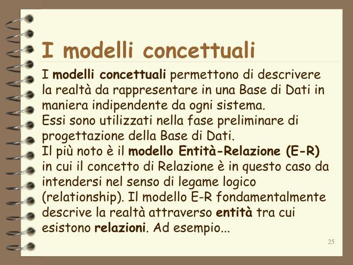 I modelli concettuali
