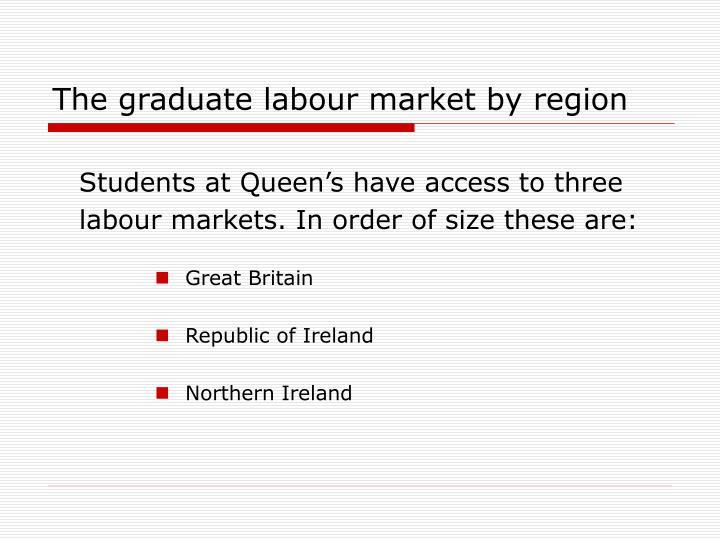 The graduate labour market by region